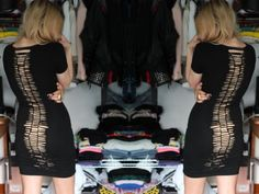 DIY Spine dress, easy as a pie: also leggings, or fatter for ribs