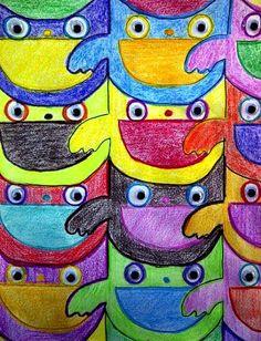 math owl tessellation Escher Tessellations, Tessellation Patterns, Escher Art, Mc Escher, Art Classroom, Classroom Themes, Tesselations, Bell Art, Math Patterns