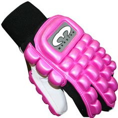 A pink indoor fockey glove? Field Hockey Equipment, Protective Gloves, Charlotte, Indoor, My Favorite Things, Sports, Pink, Interior, Hs Sports