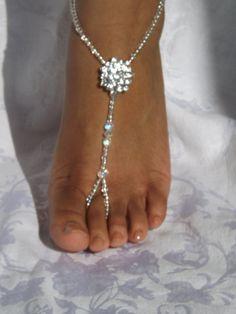 Stras nu-pieds sandale pied bijoux Anklet demoiselles d