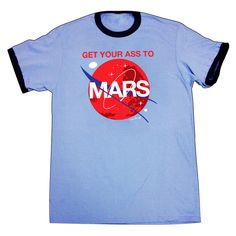 Special Edition Get Your Ass to Mars - ADULT Ringer T-Shirt