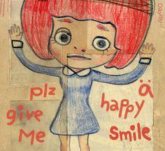 Hey! 請給我一個開心的微笑 #illustration #daylilyart #插畫 #玳力力