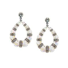 """Attention-grabbing sparkle that's sure to get noticed. - 1 ⅝"""" long - Graduated iridescent crystal with bands of colorless stones in between - Single stone at the post - Swarovski® crystal - Gold-plate"""