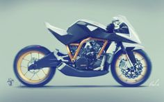 Really cool motorcycle sketch