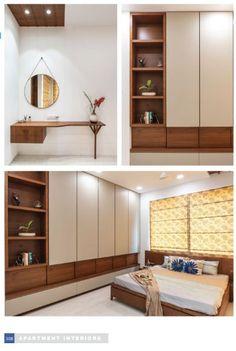 Cupboard Design, Apartment Interior, Bedroom Furniture Design, Modern Bedroom Design, Bedroom Bed Design, Modern Cupboard Design, Modern Bedroom Interior, Minimal Apartment Decor, Apartment Interior Design
