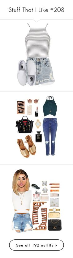 """""""Stuff That I Like #208"""" by jjanaeh ❤ liked on Polyvore featuring River Island, Vans, Topshop, Kaanas, Rebson, Moschino, H&M, Chanel, MAC Cosmetics and Kate Spade"""