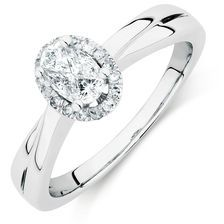 Michael Hill  Engagement Ring with 0.33 Carat TW of Diamonds in 14kt White Gold
