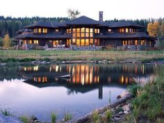 LOVE! this log cabin house
