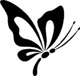Make your car unique with our Sweet Butterfly Flying decals. This sweet butterfly flying sticker is a single color vinyl cut out that is very easy to apply and will last up to 5 years in both hot and cold climates. Butterfly Sketch, Butterfly Stencil, Butterfly Art, Butterfly Design, Butterflies, Stencil Patterns, Stencil Art, Stencil Designs, Glitter Tattoo Stencils
