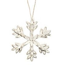 CANVAS Green Twig Snowflake Ornament