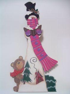 Muñeco de nieve - Corte madera láser