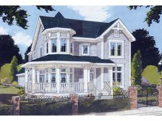 Saguenay Victorian Home Front of Home from houseplansandmore.com
