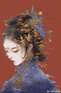 Anime Art Girl, Manga Art, Character Art, Character Design, Japon Illustration, Botanical Illustration, Art Asiatique, China Art, Japanese Art