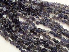 WHOLESALE 5 Strands Iolite Beads Iolite Plain by gemsforjewels
