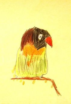 Drawing birds. Art lesson for children aged 6