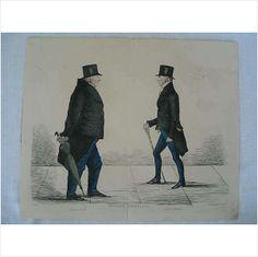 Modern Athenians - Prominent Edinburgh Gentlemen - 1839 Print - Sheet No 14