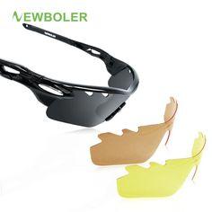 4858f69cb380 Boler Men Fishing Sunglasses Women Polarized 3 Lense Brown Fishing Eyewear