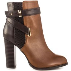 Aldo Women's Lampley - Cognac Bronze ($133) ❤ liked on Polyvore featuring shoes, boots, ankle booties, heels, ankle boots, booties, brown, cognac ankle boots, high heel ankle booties and high heel boots