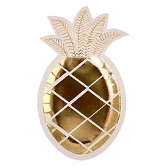 Engagement Party - Gold Pineapple Plate