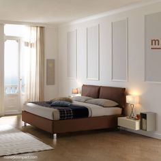 Letto matrimoniale ginger high in tessuto marrone scuro for Habitat arredamenti solarino