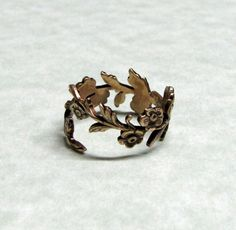 Forest Leaf Spray Ring band (something simple like this)