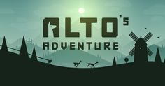Alto's Adventure. An endless snowboarding odyssey, out now on the App Store (a runner game though)