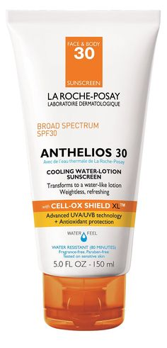 La Roche-Posay Anthelios 30 Cooling Water-Lotion Sunscreen for Face and Body, Water Resistant with SPF 30
