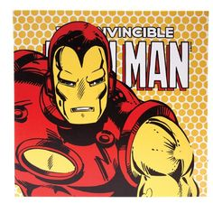Quadro Iron Man com LED