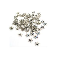 """Kit Kraft inc., Studs & Nailheads, Silver Star Studs - 1/2"""" ($10) ❤ liked on Polyvore featuring fillers, backgrounds, other, fillers - grey, glitter and magazine"""