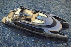 The EGO catamaran mega yacht is a boat lover& dream Cool Boats, Small Boats, Yacht Design, Boat Design, Super Yachts, Power Catamaran, Cabin Cruiser, Build Your Own Boat, Boat Kits