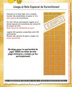 Peña Euro-Star Serviapuestas: Euromillones martes y viernes  03  octubre 2014