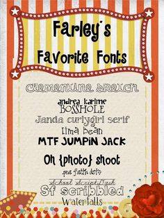 oh' boy 4th grade fonts