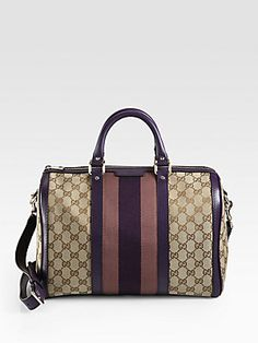 Love how they have the iconic Gucci Boston Bag with purple now!