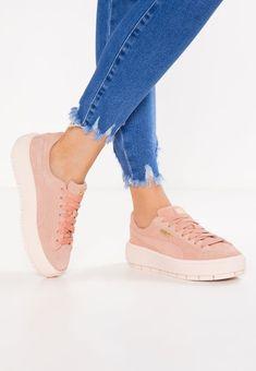7cd30ef7accf65 Puma SUEDE PLATFORM TRACE - Sneaker low - peach beige pearl - Zalando.de