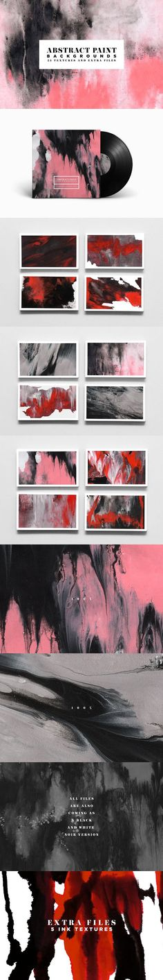 Abstract Paint Backgrounds. Textures