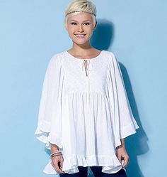 McCall's 7325 Misses' Gathered Tops and Tunic sewing pattern