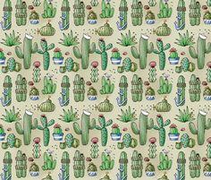 Salty Cactus fabric by modernrosie on Spoonflower - custom fabric