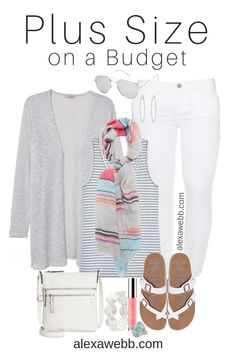 Plus Size on a Budget – Spring Casual Outfit - Alexa Webb Source by jana_dodd clothes spring Curvy Outfits, Mode Outfits, Plus Size Outfits, Fashion Outfits, Fashion Tips, Fashion Trends, Fashion Ideas, Fashion Hacks, Fashion Art