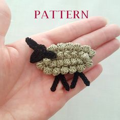 Patrón de oveja cordero de ganchillo patrón por EstersDoilies