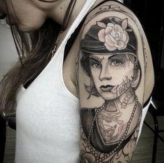 As tatuagens precisas neo tradicionais do brasileiro Boni Lucena