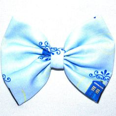 Police Box Blue Background Dark Design Tardis Dr. Who TV Show Series Hair Bow Bows Accessories Accessory Handmade For Women Girls Teens Fans on Etsy, $7.50