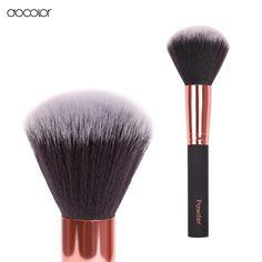 Docolor big powder brushes cosmetics Blush Round Make Up Tool Large Cosmetics Aluminum Brushes Soft Face Makeup free shipping