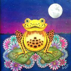 Concluído. Pintura do fundo realizada com tintas PVA Acrilex nas cores Azul turquesa, violeta, Fúcsia e Branco para a lua cheia.  #johannabasford #acrilex #florestaencantadatop #florestaencantada #jardimcolorido #minhaflorestaencantada #meujardimsecreto #forumdacriatividade #docepapelatelier #oceanoperdidotop #oceanoperdidoshow #lostocean #secretgarden #jardimsecreto #zencolouring #coloringbook #lapisdecor #fabercastell #pintura #arteemfoco #arte_of_nature #terapianojardim #boracolorirtop…