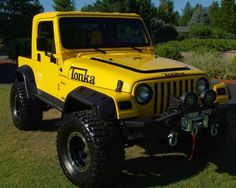 Read More About Tonka - A grown man's toy. Old Jeep, Jeep Tj, Jeep Wrangler, Jeep Brute, Tonka Toys, Car Trailer, Jeep Pickup, Cool Motorcycles, 4x4 Trucks
