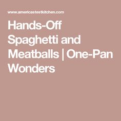 Hands-Off Spaghetti