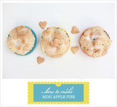 Trowing a dinner party? Make little mini apple pies for dessert or afternon coffee.