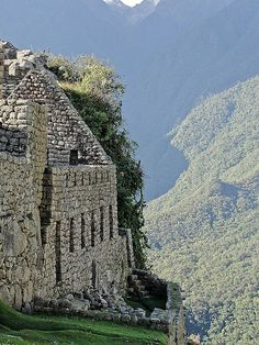 Machu Picchu, Perú Casas en ciudadela inca