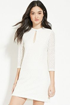Floral Lace Shift Dress | Forever 21 - 2000181083