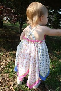 Sweet Pea and Pumkins: Bandana Dress Tutorial Toddler Dress, Toddler Outfits, Kids Outfits, Sewing Clothes, Diy Clothes, Dress Sewing, Little Girl Dresses, Flower Girl Dresses, Baby Dresses