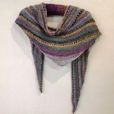 1 ball of Noro's Mirai. Pattern is free on Ravelry, Panorama shawl.